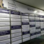Hospital Doctors Sign Board