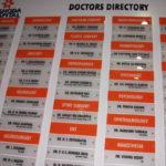 Doctors List Sign Board